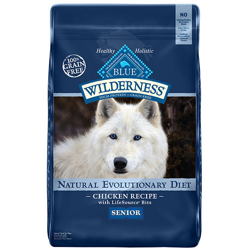 Blue Buffalo Wilderness Senior Chicken Recipe Grain-Free Dry Dog Food