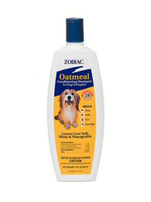 Zodiac Oatmeal Conditioning Shampoo for Dogs & Puppies, 18-oz