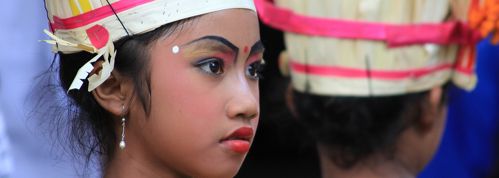 Balinese girl dressed up for a Balinese ceremony