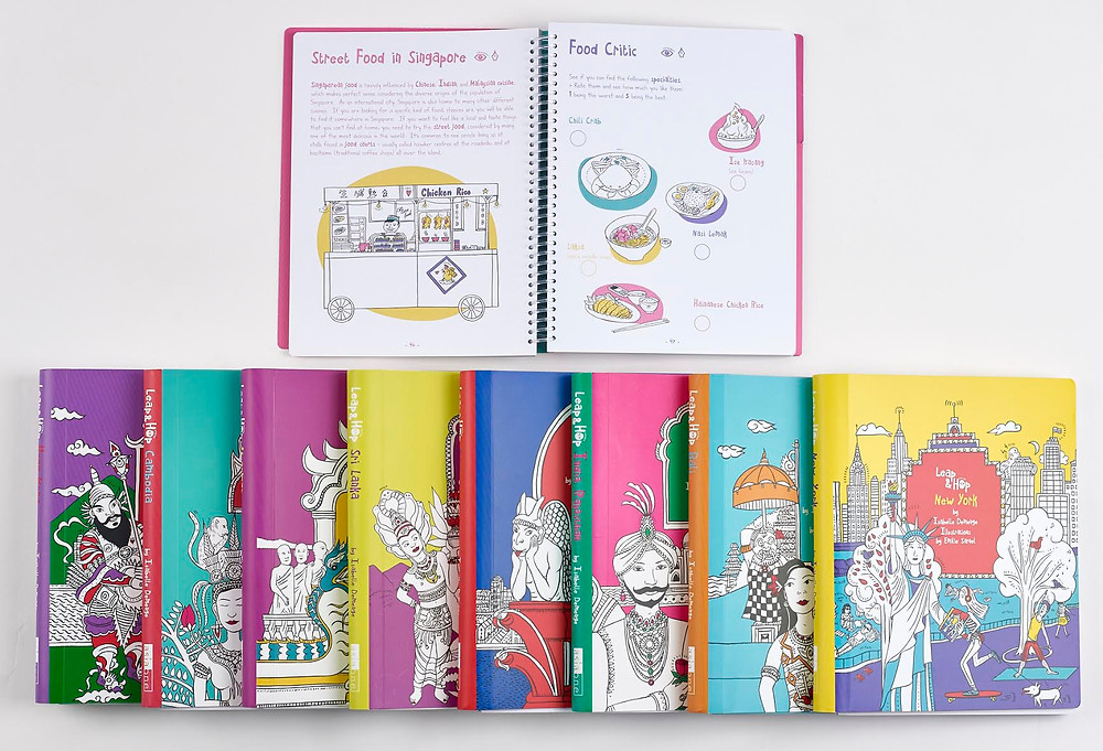 Leap and Hop kids travel books by Isabelle Demenge