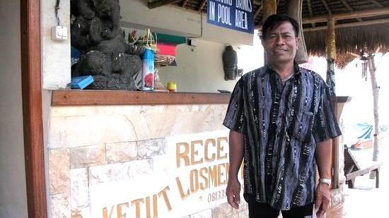 Ketut, the owner of Ketuts Losmen, Nusa Lembongan Island