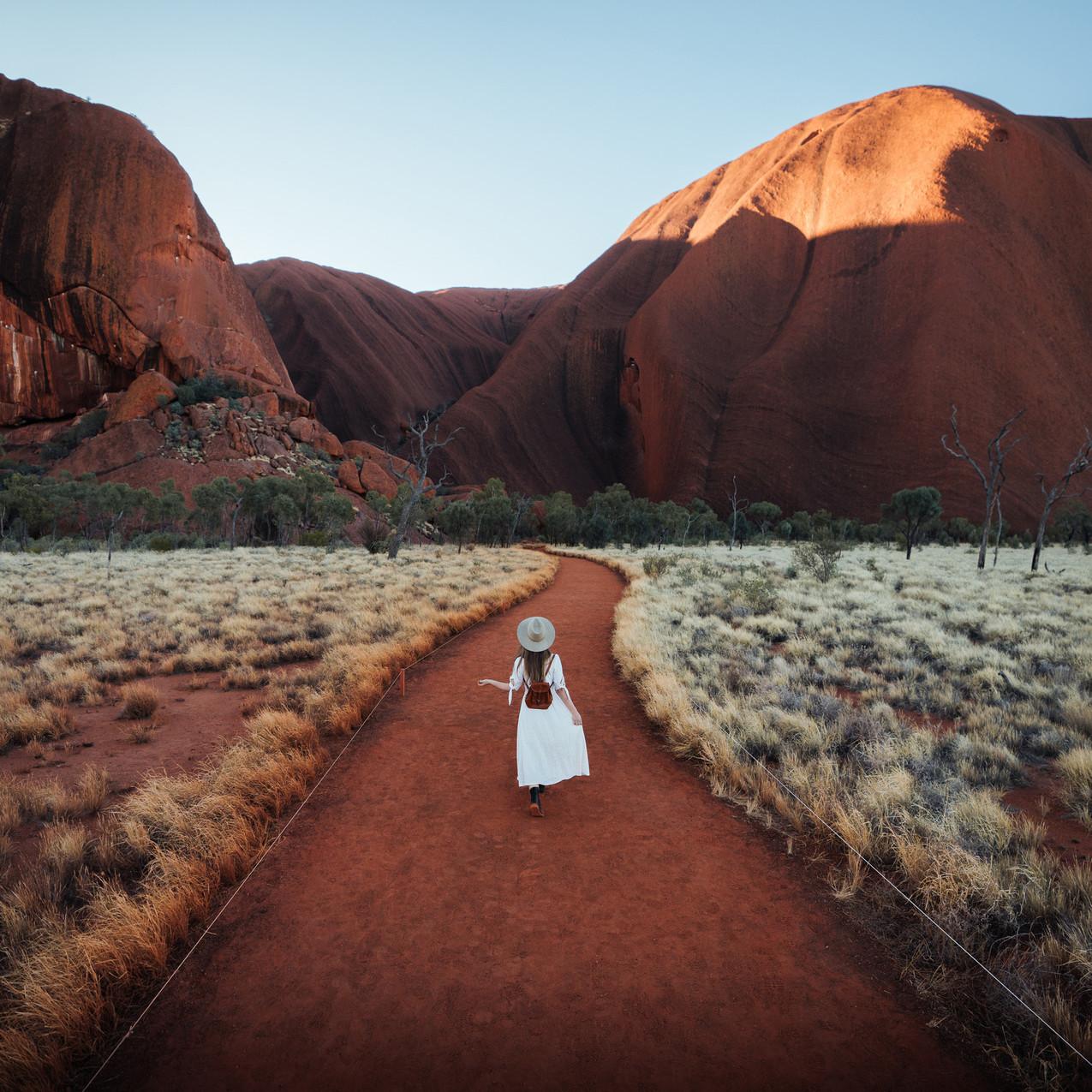 Exploring Uluru at Sunrise