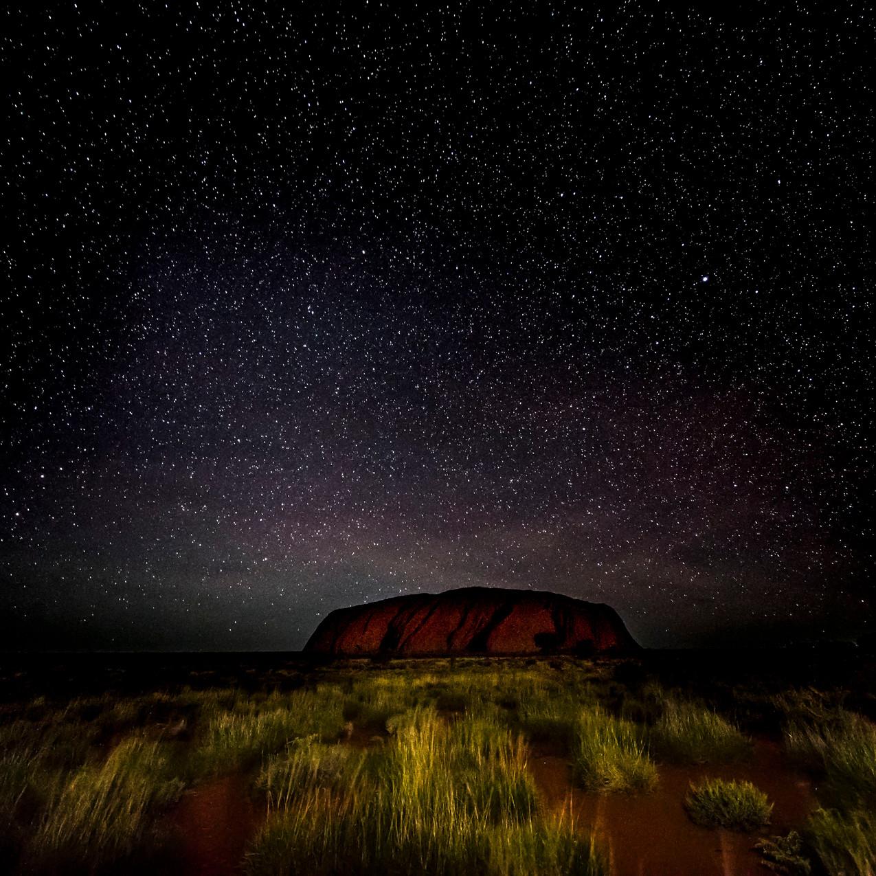 Night Sky Over Uluru