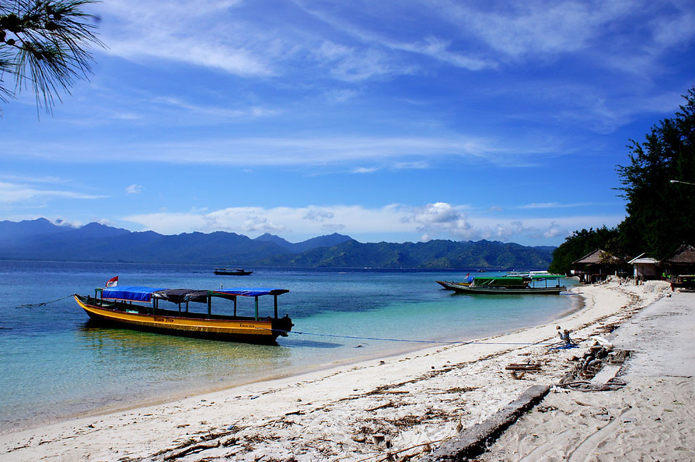 Gili Trawangan Island beach on Lombok
