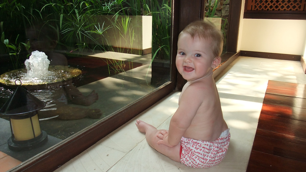 Baby on holiday in a Bali Villa