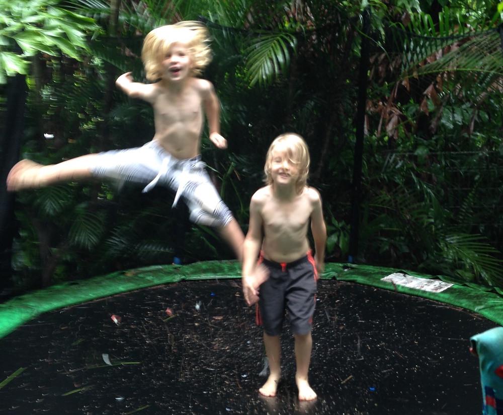 Darwin kids on the trampoline