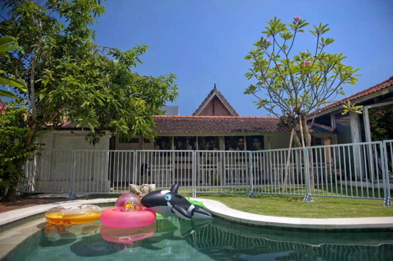 Bali villa with safety pool fence