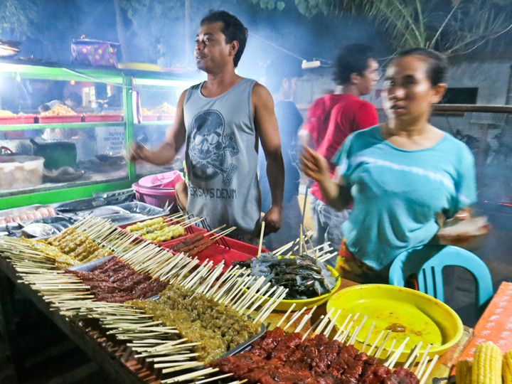 Food stall at Night Market on Gili Trawangan, Lombok
