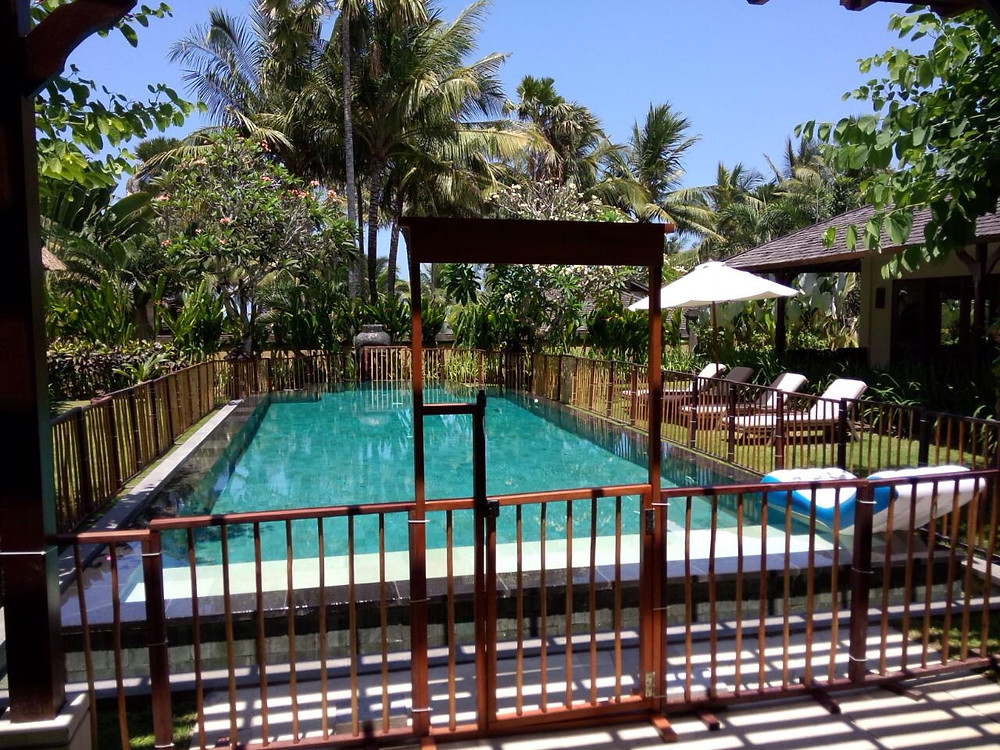 Pool Fence Bali hire wooden safety pool fencing in Balli