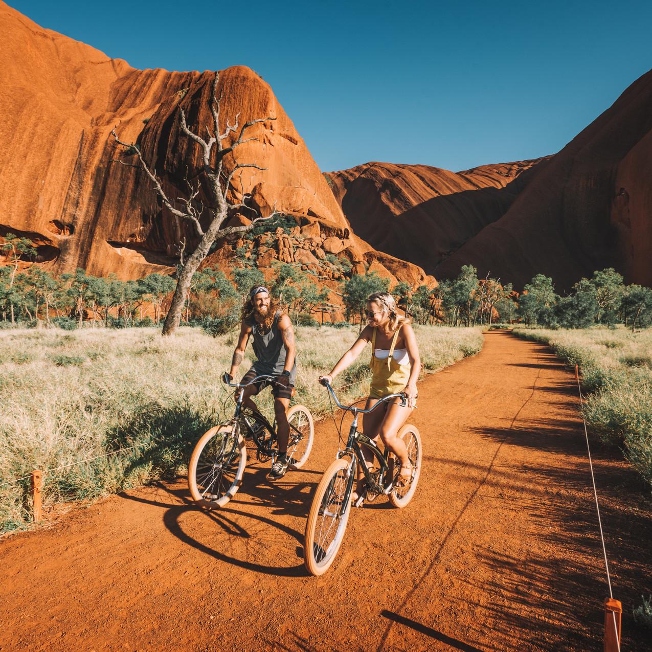 Cycling at Uluru