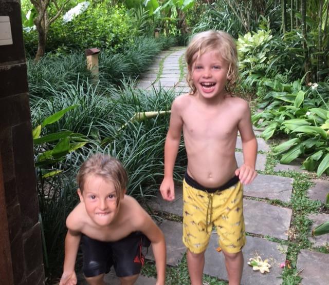Happy boys at Umajati Retreat