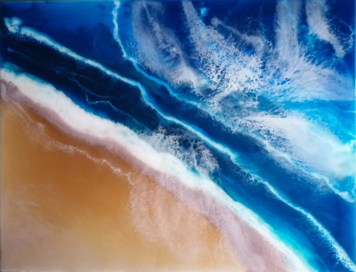 Near the sea, 130x100 cm., resin, 2020
