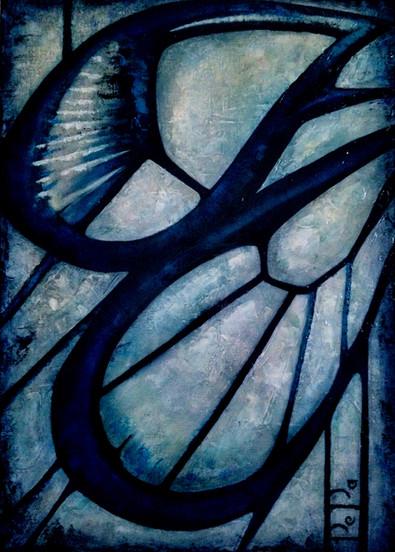 Blue wings, 105x75., 2015