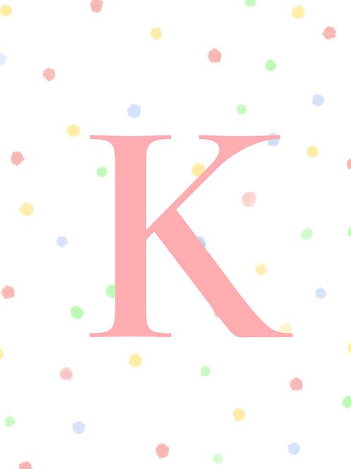 Confetti Alphabet