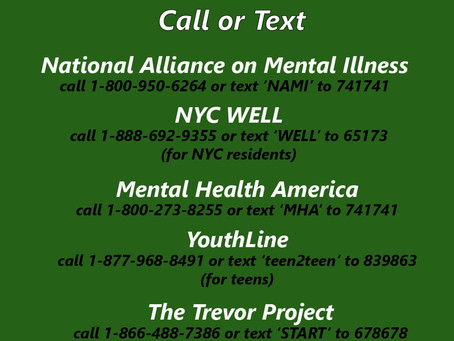 5 Mental Health Hotlines to Call or Text