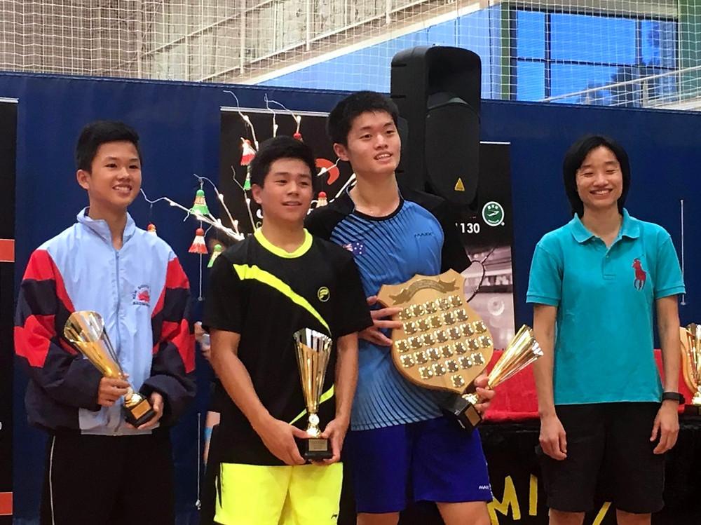 2016 U17s June Bevan Trophy & Australasian Championships: Winners with Lenny Permana