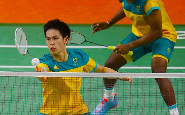 Image of Matthew Chau playing Mens Doubles at the Rio 2016 Olympic Games