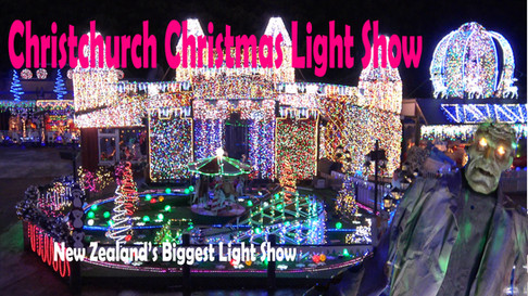 Christmas time with the biggest Christmas light show in New Zealand