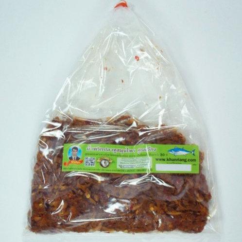 น้ำพริกปลาทูสมุนไพร ชนิดถุง 200 กรัม