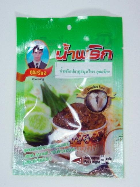 น้ำพริกปลาทูสมุนไพร ชนิดซอง 22 กรัม