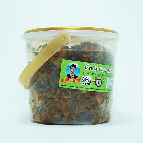 น้ำพริกปลาทูสมุนไพร ชนิดถังเล็ก 250 กรัม( น้ำหนักสุทธิ 230g )