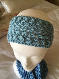 Delphinium headband