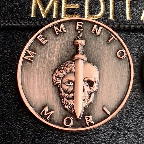 Antique copper Memento Mori Coin