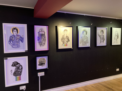 Rugman Art framed and on display in Marlow