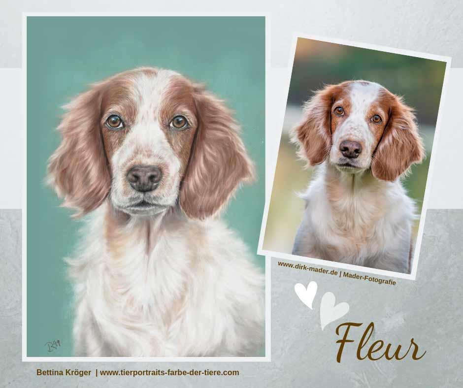 Fleur Tierportrait |Zeichnung und Vorlage