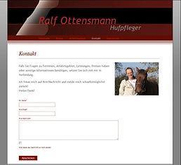 Beispiel für die Gestaltung einer Internetseite für Hufpflege Ottensmann