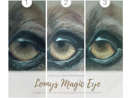 Magic Eye | Pastellzeichnung im Vergleich