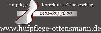 Beispiel für die Gestaltung einer Autowerbung für Hufpflege Ottensmann