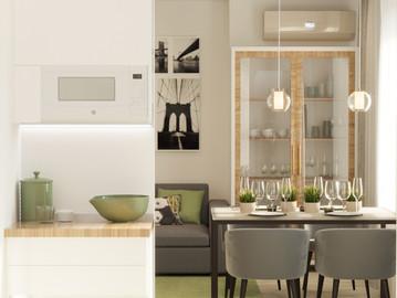 Дизайн интерьера однокомнатной квартиры 40 кв.м. в современном стиле