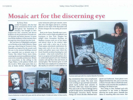 MOSAIC ART FOR THE DISCERNING EYE ARTICLE IN VALLEY VOICE RURAL MAGAZINE