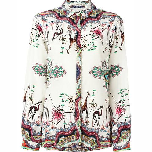 ETRO блузка с принтом птиц