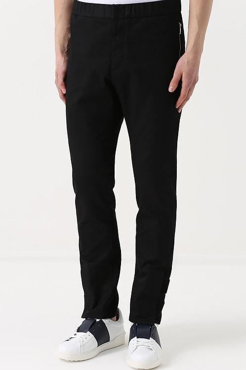 VALENTINO хлопковые брюки прямого кроя с поясом на резинке