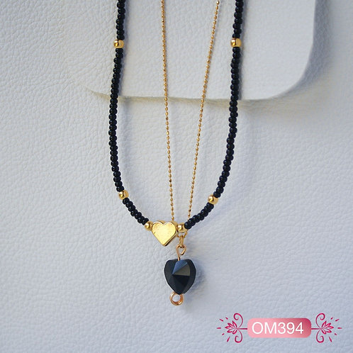 OM394-Collar en oro Goldfield Corazón
