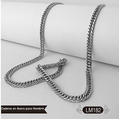 LM182 - Cadena Acero Hombre