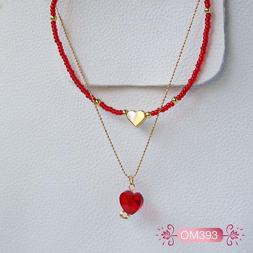 OM393-Collar en oro Goldfield Corazón