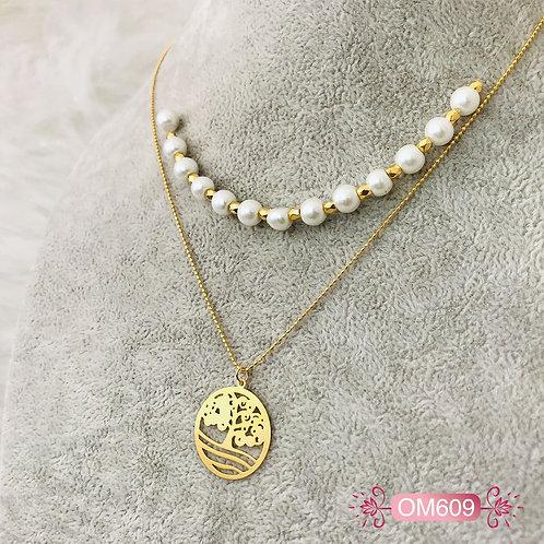 OM609-Collar en Oro Goldfield