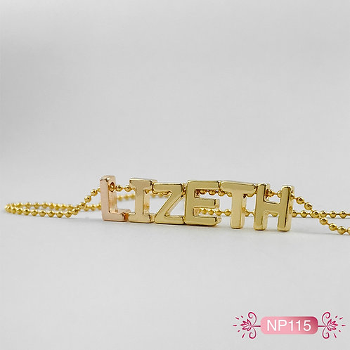 NP115- Collar en Oro Goldfield