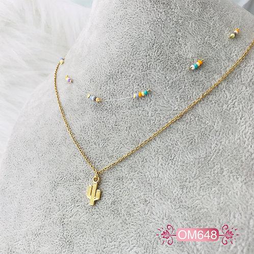 OM648- Collar en Oro Goldfield