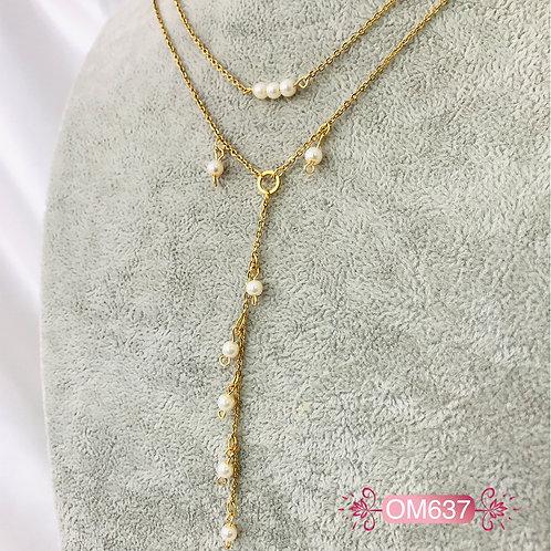 OM637- Collar en Oro Goldfield