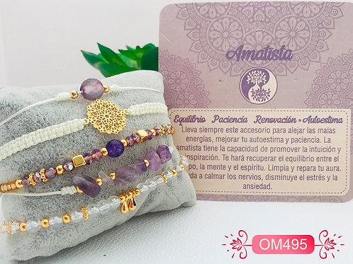OM495-Pulseras Piedra Natural
