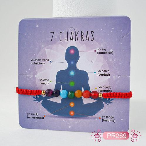 PR269 Pulseras 7 Chakras