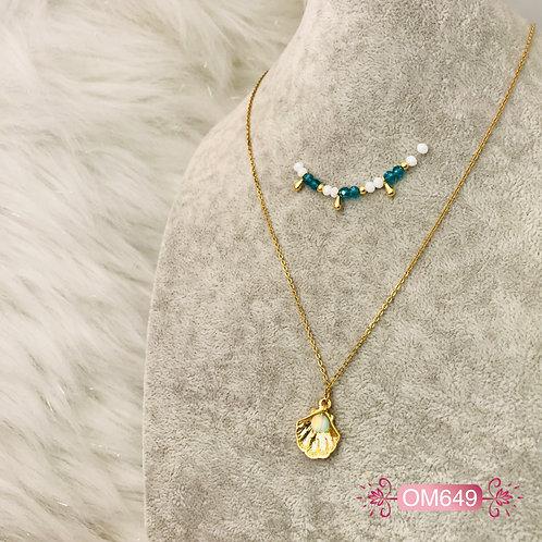 OM649- Collar en Oro Goldfield