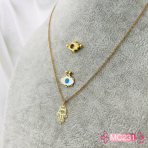 MC231-Collar en Oro Goldfield