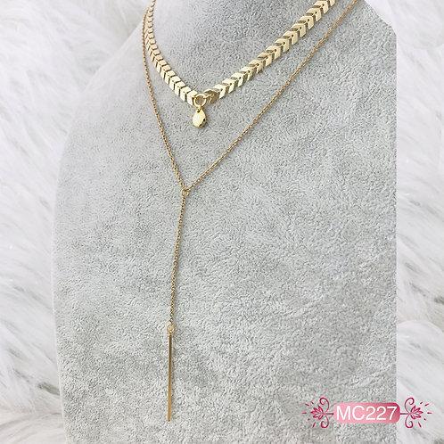MC227-Collar en Oro Goldfield