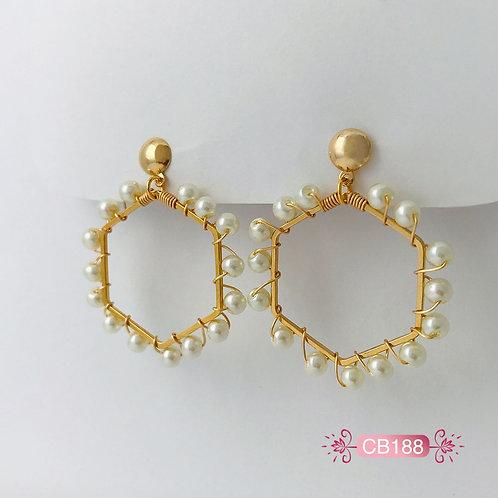 CB188- Aretes Oro Goldfield
