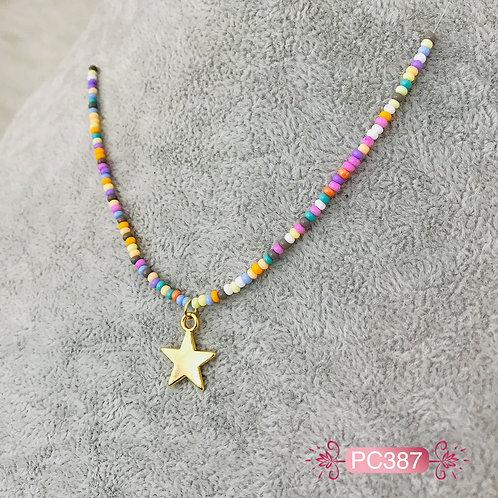 PC387-Collar en Oro Goldfield